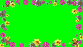 getlinkyoutube.com-Floral Frame Green Screen.