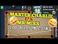 THE BOSS - 8 BALL POOL - MR MISS VS MASTER CHARLIE - 100 BILLION COINS - INSANE BANK TRICK SHOTS