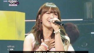 getlinkyoutube.com-Huh Gak and Jeong Eunji - Short Hair (2013.06.29) [Music Bank w/ Eng Lyrics]