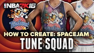 NBA 2K16 | Tune Squad from Space Jam Jersey + Court tutorial Pro-AM Myteam