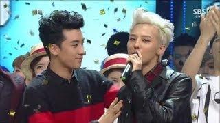 getlinkyoutube.com-G-DRAGON_0915_SBS Inkigayo_삐딱하게(CROOKED) + No.1 of the week