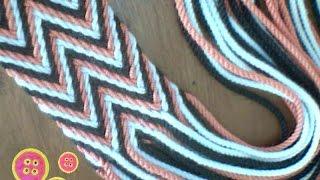 getlinkyoutube.com-Como hacer tira, gasa, fajon tipo wayuu
