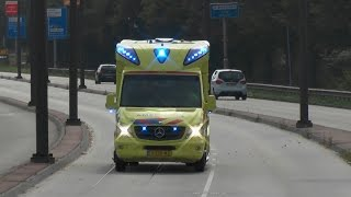 getlinkyoutube.com-Ambulances uit Friesland en Drenthe met spoed in Groningen