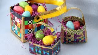 How to Make a Duct Tape Woven Basket | Sophie's World