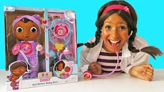 Doc McStuffins Get Better Baby CeCe ! || Disney Toy Review || Konas2002
