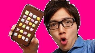 getlinkyoutube.com-iPhoneチョコレート作ってみた! I make iphone5 chocolate!
