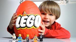 getlinkyoutube.com-Giant Lego Surprise Egg made of Play-Doh
