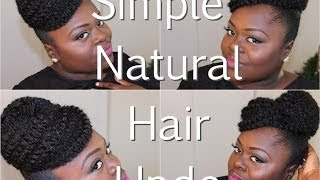 getlinkyoutube.com-{Natural Hair} Simple Updo using Marley Hair Tutorial