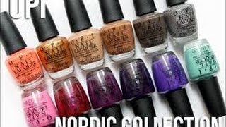 getlinkyoutube.com-OPI Fall 2014 - Nordic collection - Live swatches
