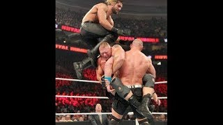 Brock Lesnar Vs John Cena Vs Seth Rollins Highlights WWE World Championship Match  Royal Rumble 2015