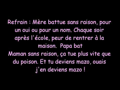 Jaws - Mère Battue . Paroles !