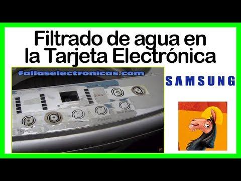 Filtrado de agua a la Tarjeta Electrónica Lavadora Samsung