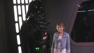 Interactive Darth Vader meet inside Star Wars Launch Bay at Disney's Hollywood Studios