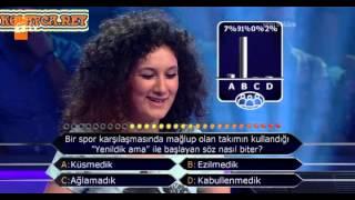 Kim milyoner olmak ister 231. bölüm 4. yarışmacı 04.06.2013 ilginç yarışmacı