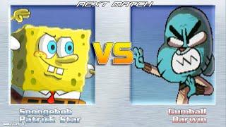 getlinkyoutube.com-MUGEN SPONGE BOB AND PATRICK VS GUMBALL AND DARWIN