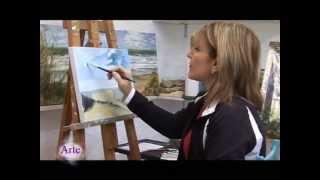 getlinkyoutube.com-Cómo pintar un paisaje de mar y cielo al óleo (Parte 1)