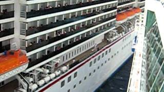 getlinkyoutube.com-Carnival Legend crashes into Royal Caribbean Enchantment of the Seas Part 3 Cruise Ships Crash