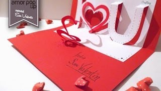 getlinkyoutube.com-Tarjeta Pop Up - Amor (para San Valentín)