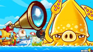 getlinkyoutube.com-Angry Birds Fight - SUPER SQUID PIG Snow Island 8-4 Boss Encounter! iOS/ Android