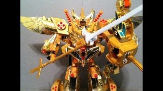 getlinkyoutube.com-Great Goldran Combine Mode - Brave of Gold Goldran Transformers Review