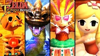 Zelda Triforce Heroes ALL BOSSES, Final Boss & ENDING (3DS)