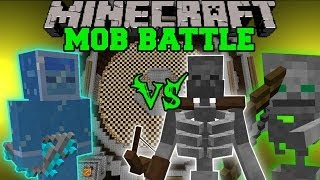 getlinkyoutube.com-MUTANT SKELETON & FRIEND VS FROST ARCHER - Minecraft Mob Battles - Mutant Skeleton & Divine Rpg Mods