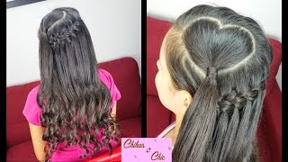 getlinkyoutube.com-Corazon y Trenza Cascada con Truco - Heart and Faux Waterfall | Para San Valentin | Chikas Chic