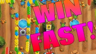 FASTEST WINS EVER - Bloons TD Battles Win Fast!
