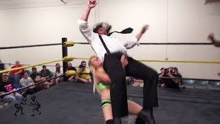 getlinkyoutube.com-[Free Match] Candice LeRae & Joey Ryan vs. Team TREMENDOUS -WSU | Beyond Wrestling (Intergender)
