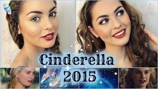 getlinkyoutube.com-Lily James as Cinderella Makeup Tutorial! Natural & Glam Looks - Jackie Wyers