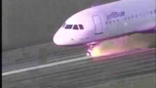 accidente rueda avion aterrizando