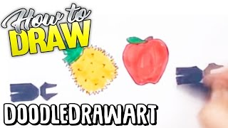 getlinkyoutube.com-How to Draw  Pen Pineapple Apple Pen ✒🍍🍎✒ PPAP Logo Step by Step