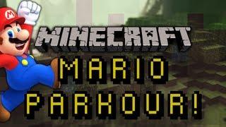 Minecraft Mod Showcase: MARIO PARKOUR! (Wall Jump Mod)