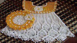 getlinkyoutube.com-Vestidos de BEBE Tejidos en Crochet o Ganchillo Parte 3 ( imagenex )