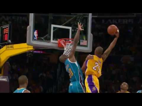 Kobe Bryant Top 10 Dunks - 2010-2011 season (included Playoffs)