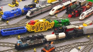 getlinkyoutube.com-My LEGO Trains in action! 🚄 45 locomotives & cars 🚂