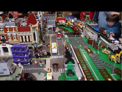 Brickville Town Harbour Lego City Railway Train Layout With