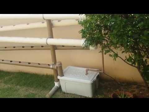Horta hidroponica vertical - caseira
