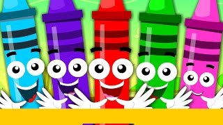 getlinkyoutube.com-Crayons Color Song | Learn Colours | Nursery Rhymes For Children
