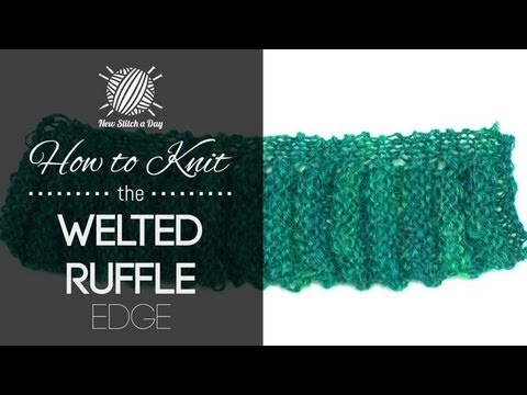 How to Knit the Welted Ruffle Edge