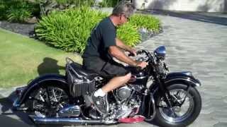 getlinkyoutube.com-1941 Harley Davidson EL Knucklehead, Cold Start