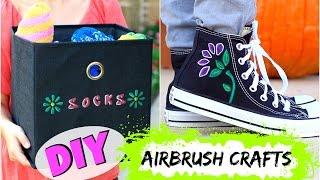 getlinkyoutube.com-DIY Airbrush Crafts | Twins Brooklyn & Bailey