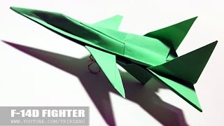 """getlinkyoutube.com-Best Paper Planes: How to make a Paper Airplane """"Model"""" for Kids   F-14D Tomcat"""