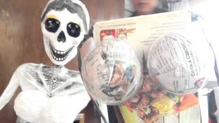 getlinkyoutube.com-Catrina Gigante DIY Facil