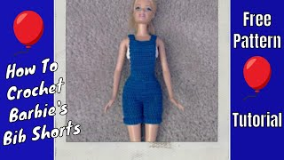 getlinkyoutube.com-Crochet - Barbie's Bib Overall Shorts