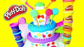 getlinkyoutube.com-PASTEL DE PLASTILINA PLAY DOH| Play Doh Cake Playset|Mundodejuguetes
