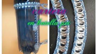 getlinkyoutube.com-Cartera de botella pet y anilla de lata