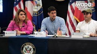 Paul Ryan reitera apoyo de EEUU y la administración Trump a PR