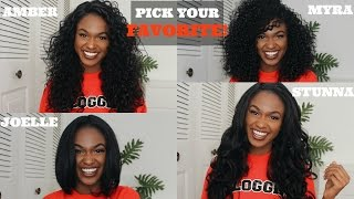 getlinkyoutube.com-PICK YOUR FAVORITE - OUTRE LACEFRONT WIGS - AMBER, STUNNA, MYRA & JOELLE