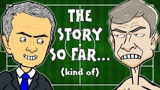 getlinkyoutube.com-MONTAGE!!! 🇫🇷Wenger vs Mourinho🚍 (Chelsea vs Arsenal Preview 2015 funny cartoon)